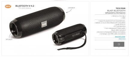 Blast Bluetooth Speaker & Fm Radio