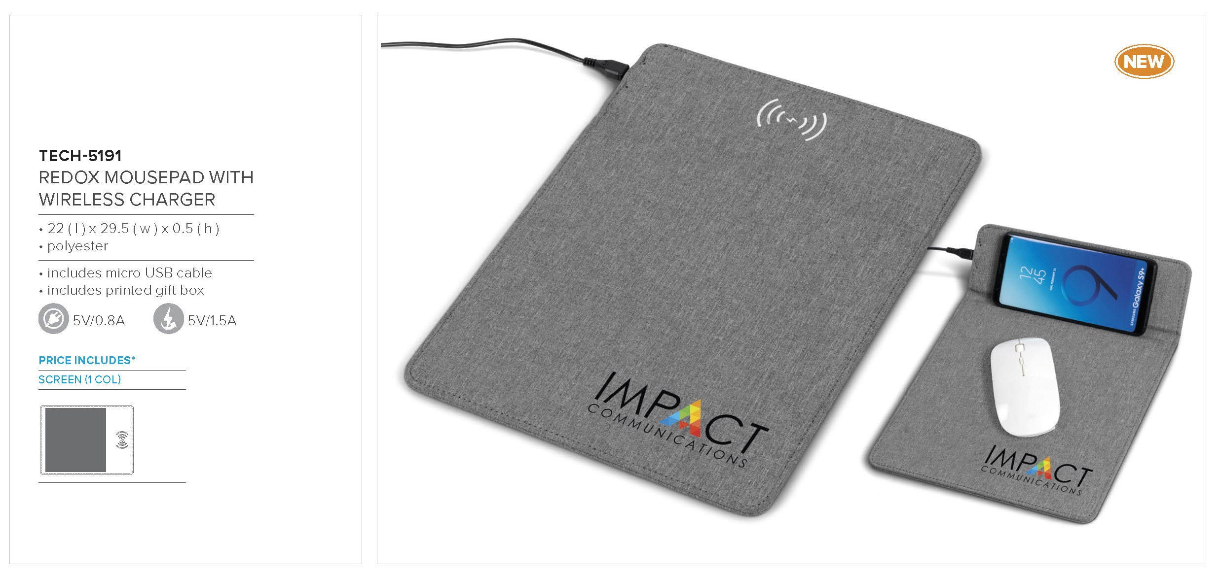 Redox Mouse Pad With Wireless Charger