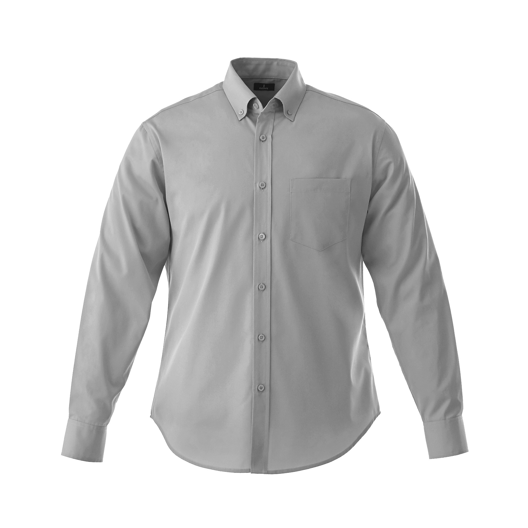 Mens Long Sleeve Wilshire Shirt - Grey Only