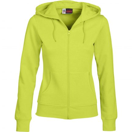 Ladies Bravo Hooded Sweater - Lime Only